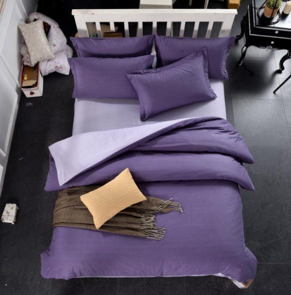 купить Постельное белье Bella Villa Сатин B-0312 Фиолетовый фото