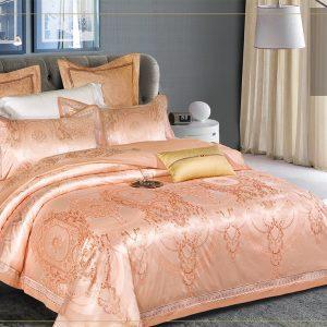 купить Постельное белье Bella Villa Сатин-Жаккард J-0059n Золотой фото