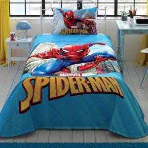 купить Детское покрывало с наволочкой TAC Spiderman Classic Голубой фото
