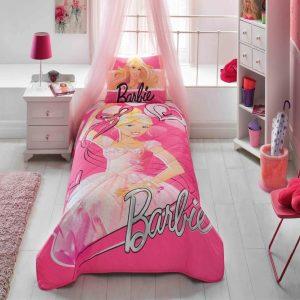 купить Детское покрывало с наволочкой TAC Disney Barbie Balerina Розовый фото