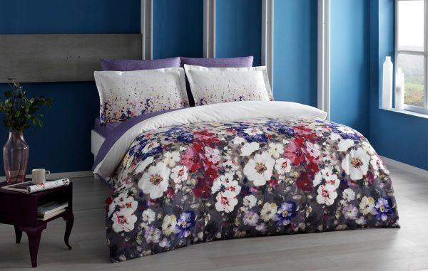 купить Постельное белье TAC Desire Lilac Сатин-Digital Фиолетовый фото