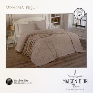 купить Плед-покрывало Maison Dor MISSOMA BEIGE Бежевый фото