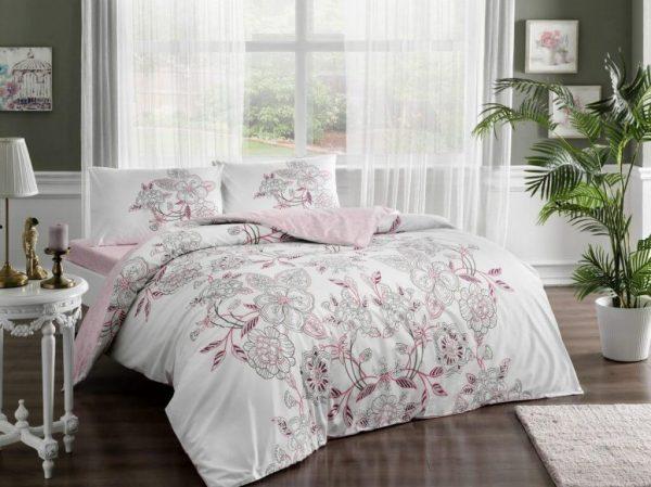 купить Постельное белье TAC Lucy Pink Ранфорс Розовый фото