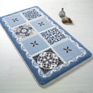 купить Коврик для ванной Confetti Ceramic Blue Mavi Голубой фото