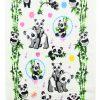 купить Кухонное полотенце махр Панда 40*60 Зеленый Серый фото