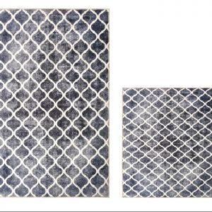 купить Набор ковриков Ella 60*100 40*60 EL7 Gri Desenli Серый фото