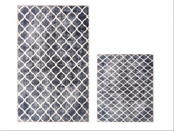 купить Набор ковриков Ella 60*100|40*60 EL7 Gri Desenli Серый фото