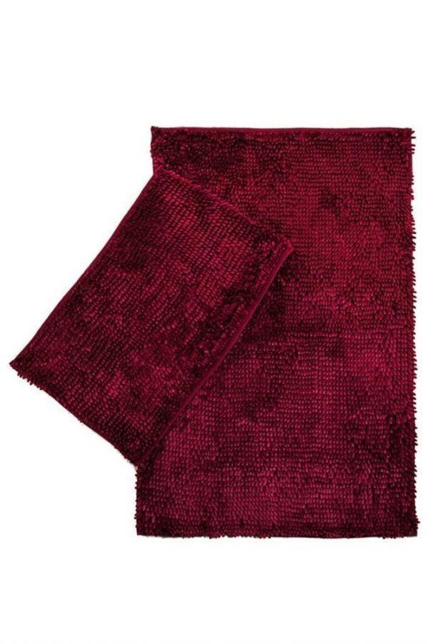 купить Набор ковриков LILO 40*60|60*100 Rose Бордовый фото