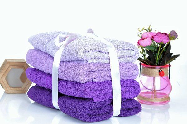 купить Набор полотенец в ванную RAINBOW Lila 4шт Фиолетовый фото