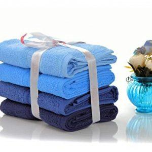 купить Набор полотенец в ванную RAINBOW Mavi 4шт Синий фото