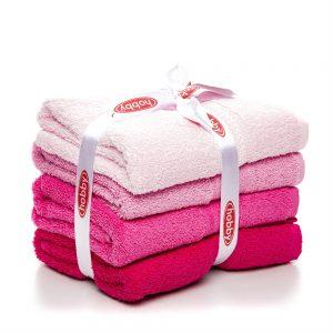 купить Набор полотенец в ванную RAINBOW Pembe 4шт Розовый фото
