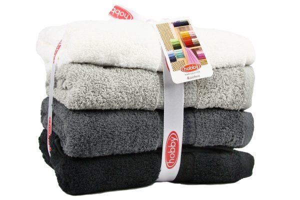 купить Набор полотенец в ванную RAINBOW Siyah 4шт Черный|Серый фото