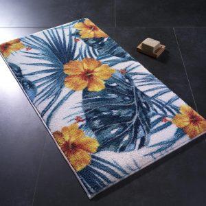 купить Коврик для ванной Confetti Hibiscus Turuncu Синий фото