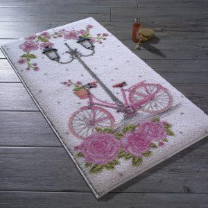 купить Коврик для ванной Confetti Romantic Bike Pembe Розовый фото