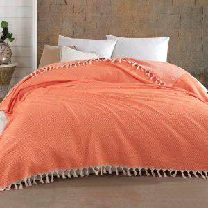 купить Плед Diva Summer Оранжевый Оранжевый фото
