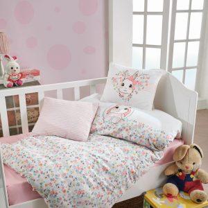 купить Постельное белье Cotton Box для новорожденных Bunny Pembe Розовый фото