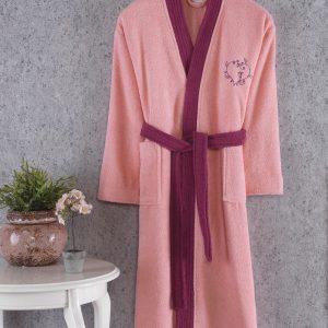 купить Махровый Халат Cotton box Fine Pembe-Murdum Розовый фото