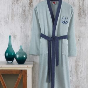 купить Махровый Халат Cotton box Fine Mavi-Lacivert Синий фото