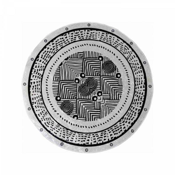 купить Коврик Karaca Home Aramis 100*100 Черный|Серый фото