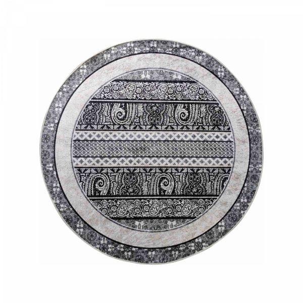 купить Коврик Karaca Home Nileso 100*100 Черный Серый фото