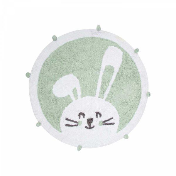 купить Коврик в детскую комнату Irya Bunny mint 110*110 Зеленый фото