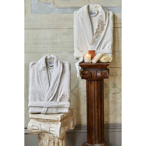 купить Набор халат с полотенцем Karaca Home Eldora Offwhite-Bej 2020-2 Кремовый фото