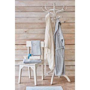 купить Набор халат с полотенцем Karaca Home Silvio offwhite-s.yesil Кремовый Ментоловый фото