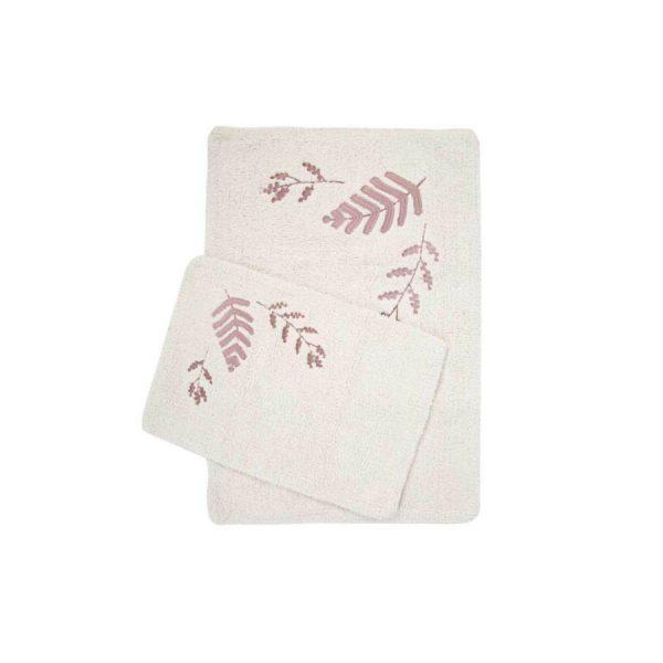 купить Набор ковриков Irya Finola gul kurusu 60*90 40*60 Кремовый фото