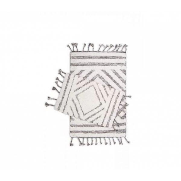 купить Набор ковриков Irya Hoover siyah-ekru 60*90|40*60 Серый фото