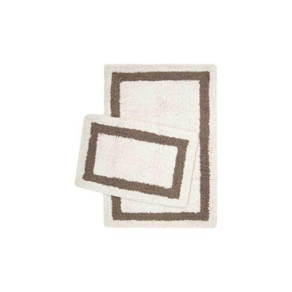 купить Набор ковриков Irya Liberte beyaz 60*90 40*60 Кремовый Коричневый фото