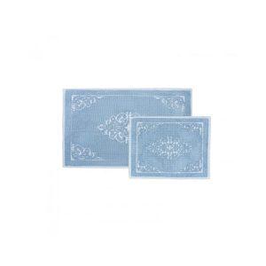 купить Набор ковриков Karaca Home Milly mavi 60*100|50*60 Голубой фото
