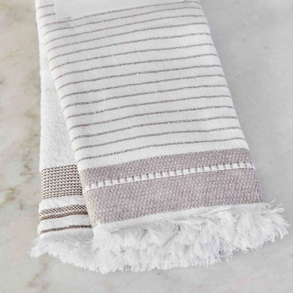 купить Набор кухонных полотенец Karaca Home Alina bej 60*40 2шт Белый|Бежевый фото