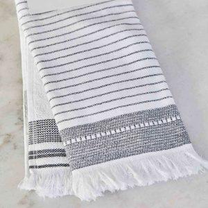 купить Набор кухонных полотенец Karaca Home Alina gri 60*40 2 шт Белый|Серый фото