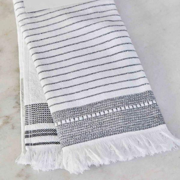 купить Набор кухонных полотенец Karaca Home Alina gri 60*40 2 шт Белый Серый фото