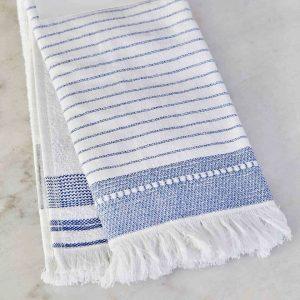 купить Набор кухонных полотенец Karaca Home Alina indigo 60*40 2шт Белый|Голубой фото