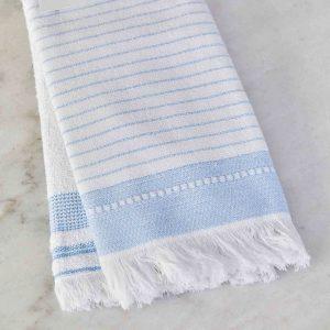 купить Набор кухонных полотенец Karaca Home Alina mavi 60*40 2шт Белый|Голубой фото