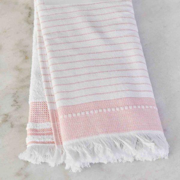 купить Набор кухонных полотенец Karaca Home Alina pudra 60*40 2шт Белый Розовый фото