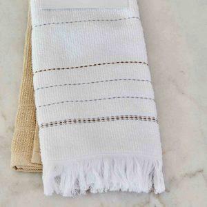 купить Набор кухонных полотенец Karaca Home Alisa gri 60*40 2шт Белый|Бежевый фото