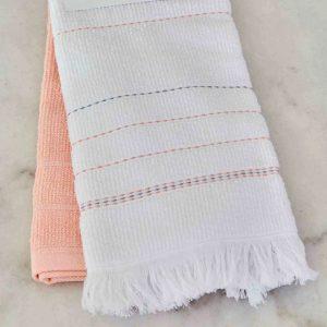 купить Набор кухонных полотенец Karaca Home Alisa pudra 60*40 2шт Белый|Розовый фото