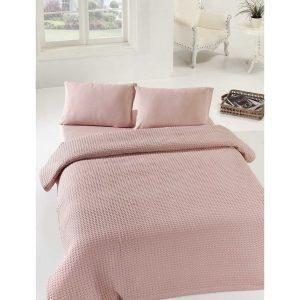 купить Покрывало пике Eponj Home Burumcuk gulkurusu Розовый фото