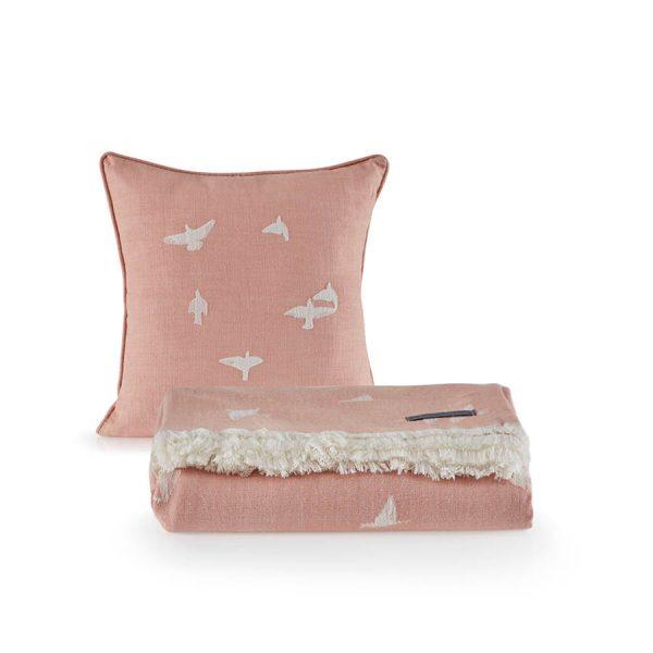 купить Покрывало пике с подушками Penelope Bird Розовый фото