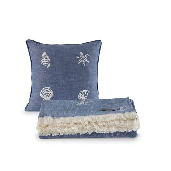 купить Покрывало пике с подушками Penelope Marin Синий фото