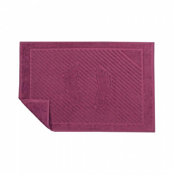 купить Полотенце для ног Iris Home Beaujolais Бордовый фото