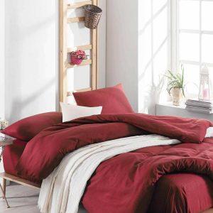 купить Постельное белье Eponj Home Paint D.Boya Bordo Бордовый Красный фото