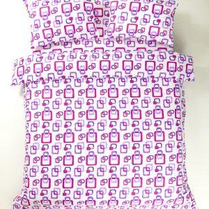 купить Постельное белье Iris Home Ranforce Delta Сиреневый Сиреневый фото