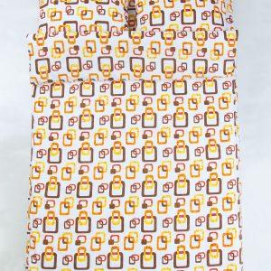купить Постельное белье Iris Home Ranforce Delta Оранжевый Оранжевый фото