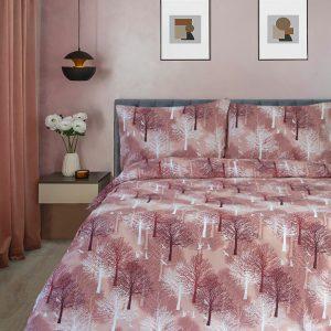 купить Постельное белье Iris Home Ranforce Wood терракотовый Коричневый Коричневый фото