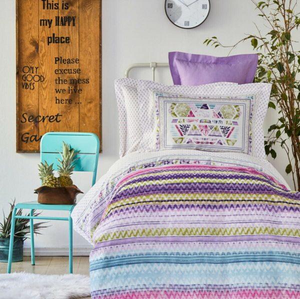 купить Постельное белье Karaca Home Moddy pembe Фиолетовый фото