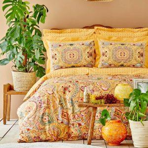 купить Постельное белье Karaca Home ранфорс Manas hardal Оранжевый фото