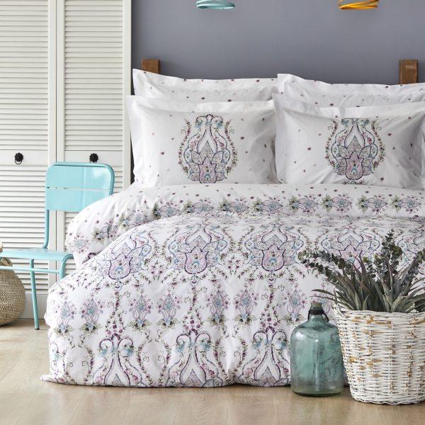 купить Постельное белье Karaca Home ранфорс Nery murdum Фиолетовый фото